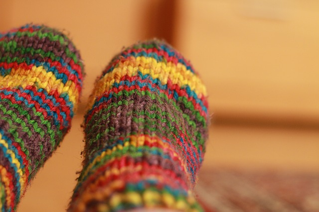 chaussettes au lit