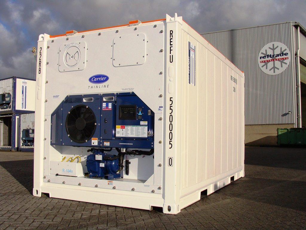 Conteneur frigorifique offshore blanc