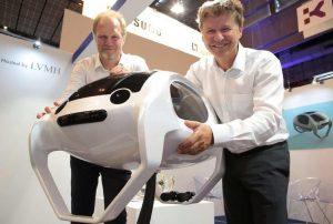 Alain Thébault et Anders Bringdal présentent le Sea Bubble