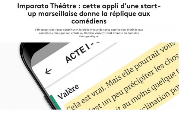 application théâtre imparato