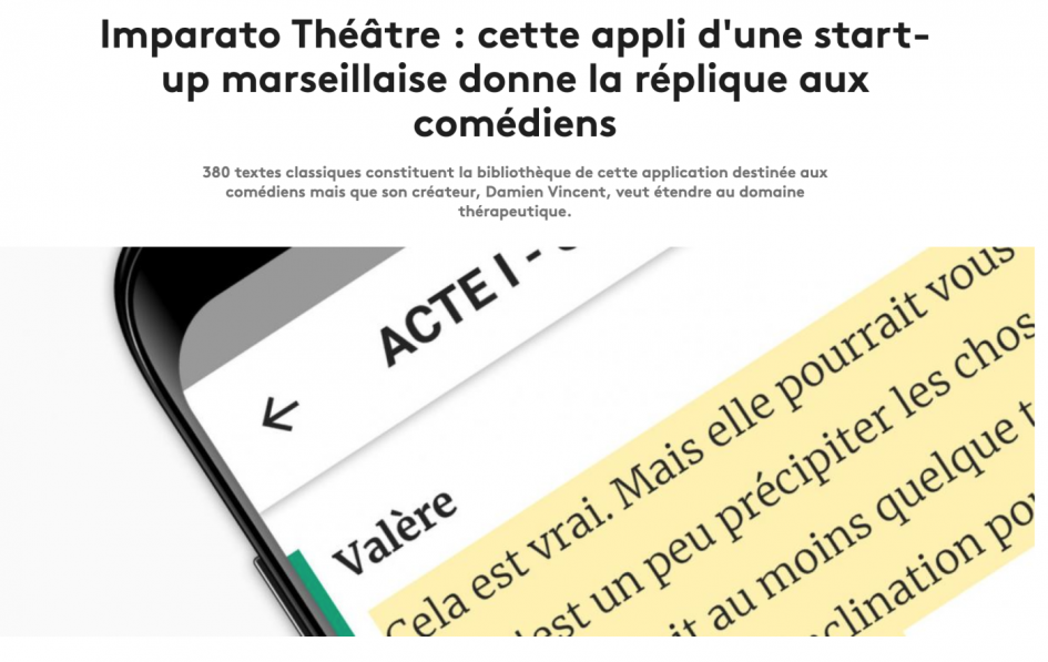 application théâtre imparato